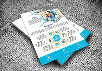 Modern Business Flyer Layouts in Two Sizes 2