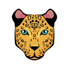 jaguar tropical bird icon vector illustration design