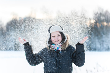 portrait of a girl, winter, snow