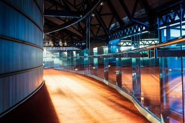 Light Shining Into Glass Building