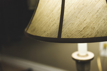 Lamp With Lampshade Turned On