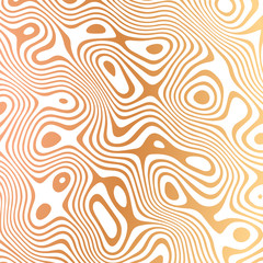 Wavy wood pattern with curves and circles in light brown and orange colors. Texture for documents, textile, wrap or wallpaper.