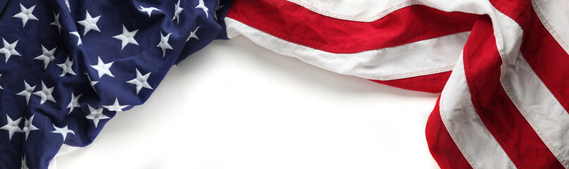 Red, white, and blue American flag for Memorial day or Veteran's day background Wall mural