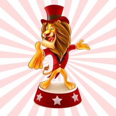 circus lion cartoon