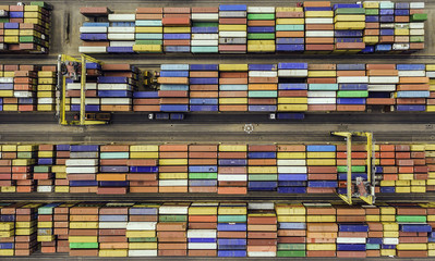 Top view of container terminal