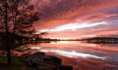 Pretty in Pink Dawn Waterscape