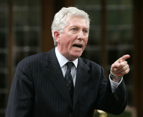 Bloc Quebecois leader Gilles Duceppe speaks in the House of Commons on Parliament Hill in Ottawa