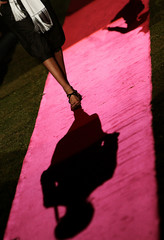 A model performs for catwalk show by designers Dean and Dan Caten and their Dsquared 2 label at fashion week in Milan
