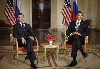 U.S. President Barack Obama meets with Russian President Medvedev in London