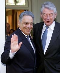 DUTCH PRIME MINISTER WIM KOK AND BRAZILIAN PRESIDENT CARDOSO IN THE HAGUE.