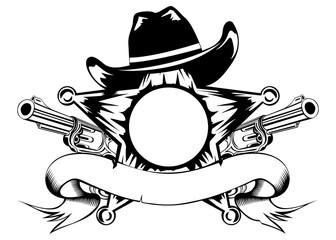 sheriffs star and revolvers