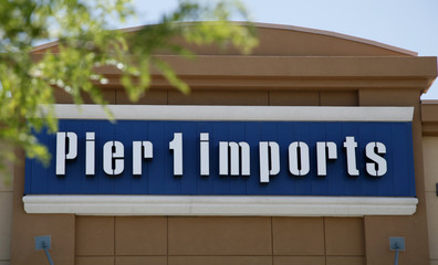The Pier 1 Imports sign is pictured outside the store in Broomfield, Colorado