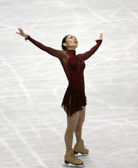 Gold medallist Japan's Ando performs at the women's free skating program of the World Figure Skating Championships in Tokyo
