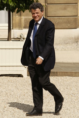 France's Minister for Ecology, Energy, Sustainable Development Jean-Louis Borloo arrives at the Elysee Palace in Paris