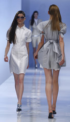 Models wear creations by Michalsky at Fashionweek Berlin 2008 in Berlin