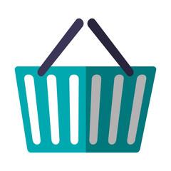 shopping basket icon over white background. vector illustration