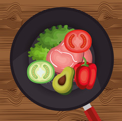 healthy food vegan icons vector illustration design