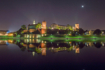 Fototapeta Nocny Wawel obraz
