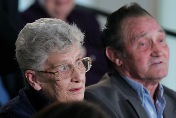 Audience member Halsworth questions Britain's PM Blair during a live televised debate at the Walsgrave ...