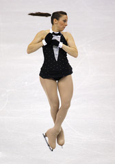 Ana Cecilia Cantu of Mexico performs during the Ladies Free Skating portion of the 2009 ISU World Figure Skating Championships in Los Angeles