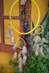 Dream Catcher Decorated Home Window