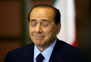 Italian PM Berlusconi attends the installation of a National Committee for Tourism in Rome