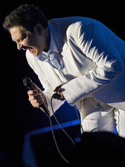 Canadian singer K.D. Lang performs during the 42nd Montreux Jazz Festival