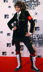 Szlagowska of Blog 27 from Poland poses as she arrives for the 13th Annual MTV Europe Music Awards 2006 show in Bella Center in Copenhagen