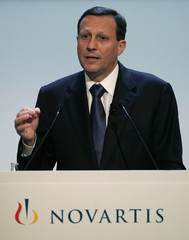 Novartis Chief Executive Daniel Vasella presents the 2006 annual results of the company in Basel