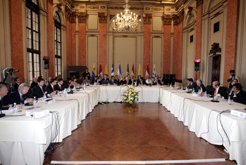 General view shows Finances Ministers meeting of Mercosul trade bloc at Itamaraty Palace in Rio de Janeiro