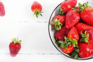 Fresh Strawberries. Healthy eating.