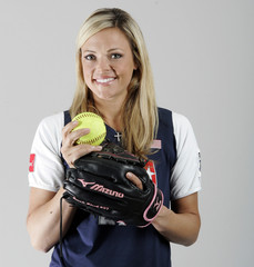 Finch, a member of the United States Olympic Softball team, poses for a photo during the 2008 U.S. Olympic Team Media Summit in Chicago