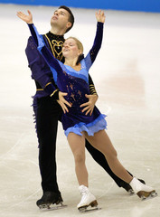 CANADA'S LANGLOIS AND ARCHETTO PERFORM IN NHK TROPHY FIGURE SKATING INASAHIKAWA, JAPAN.