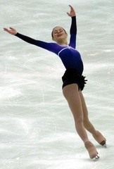 SASHA COHEN OF THE UNITED STATES SKATES DURING THE CUP OF RUSSIASKATING COMPETITION IN MOSCOW.