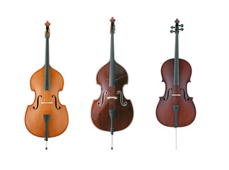 Cello isolated on white background with clipping mask.