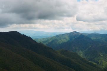 Russia. Krasnodar region. Mountain peaks in Adygea.