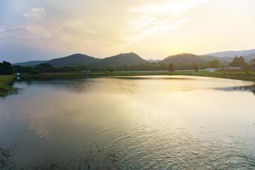 Mount Warning river sugar cane and sun