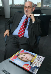 """Publisher of Austrian weekly """"NEWS"""" Alfred Worm presents the issue to be released today in Vienna"""