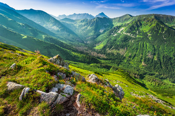 Obraz Beautiful dawn in the Tatras mountains, Poland, Europe - fototapety do salonu