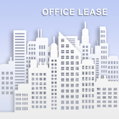 Office Lease Represents Office Property Buildings 3d Illustration