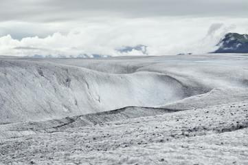 Frozen landscape on Mendenhall Glacier, Juneau, Alaska