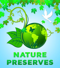 Nature Preserves Shows Eco Conservation 3d Illustration
