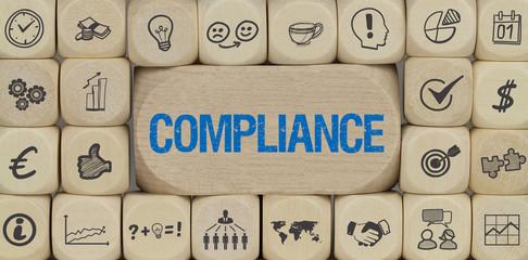 Compliance / Würfel mit Symbole