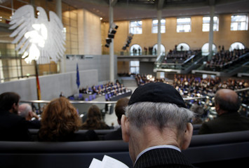 Rabbi Wolff attends an hour of commemoration in the German parliament Bundestag to remember the victims of the Nazi era  in Berlin
