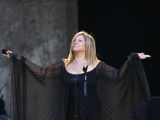U.S. entertainer Barbra Streisand performs on the stage in Berlin