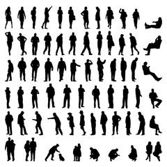 Set mit Silhouetten von Menschen