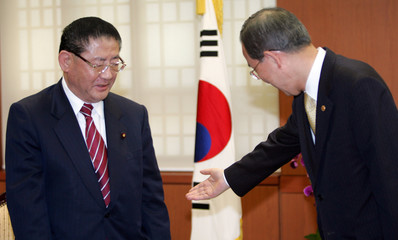 Yamasaki, Japanese lower house lawmaker and former vice president of ruling Liberal Democratic Party, meets South Korean Foreign Minister Ban in Seoul