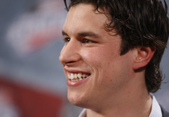 Pittsburgh Penguins Sidney Crosby talks to media ahead of the NHL All-Star weekend in Montreal