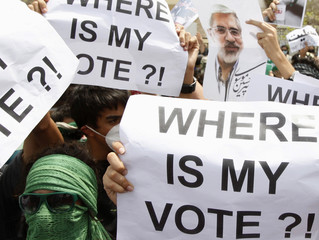 Iranians in Dubai protest against Iran's election results