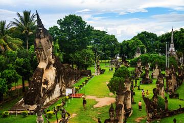 Vientiane, Laos. Famous Buddha park